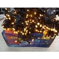 Эл. штора уличная 625 LED 2,5*1,5м желтая, резин.пров (RB-OLDCL625-TY-E)