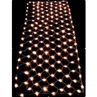 Уличная гирлянда - сетка 144 LED хол.бел., прозр.шнур 1.5*1м (NTLD144-W-E)