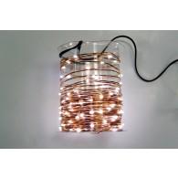 Эл. гирлянда LED 100 белых минидиодов, 10м, контроллер (LDM100-W-C)