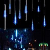 "Эл. гирлянда LED ""Сосульки"" синие 50см прозр.провод"