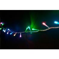 Эл. гирлянда LED 180RGB 13м прозрачный провод