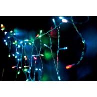 "Эл. гирлянда ""Бахрома"" 96 светод.разноцв, 3х0,4м прозр. шнур"