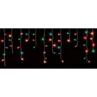 """Эл. гирлянда """"Бахрома"""" 192 светод.разноцв, 3х0,8м белый шнур"""