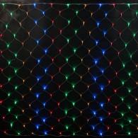Гирлянда - сетка 200 светод.разноцв 2*1,5м прозр.шнур