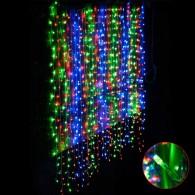 Штора 240 LED цветная, 2х2м прозр. шнур