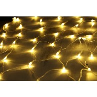 Гирлянда - сетка 160 светод.тепл.белая 1,5*1,5м прозр.шнур