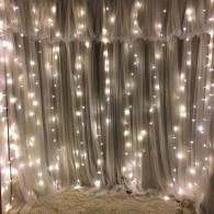 Штора 240 LED белая, 2х2м прозр. шнур