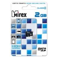 Карта памяти microSD Mirex 2Gb без адаптера