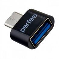 Адаптер OTG USB(гнездо) - microUSB Perfeo (PF-VI-O010)