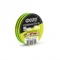 Изолента Фаzа TP-1510 желт/зеленый