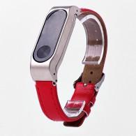 Ремешок для фитнес-браслета Mi2 кожаный красный