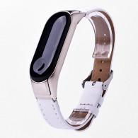 Ремешок для фитнес-браслета Mi3 кожаный белый