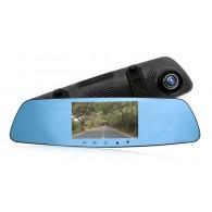 Видеорегистратор Mega L1001C (зеркало,2 камеры,120\90°,microSD до 32Gb)