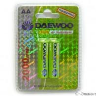 Аккумулятор Daewoo R6 2000 Ni-Mh BL 2/20
