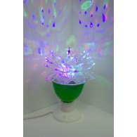 Цветок светодиодный вращающийся на подставке (Е27)