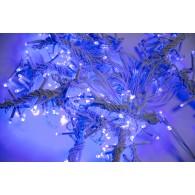 Эл. штора 400 LED синяя, 2х2м белый шнур