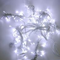 Эл. штора 240 LED белая, 1,5х1,5м белый шнур