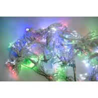 Эл. штора 750 LED разноцветная, 3х4м белый шнур