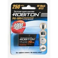 Аккумулятор Robiton 6F22 250mAh BL 1