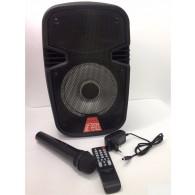 Колонка портативная SL-07 черная (Fm, USB, microSD, Bluetooth, LED, микр.)