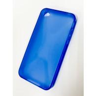 Чехол для iPhone 4 силиконовый синий