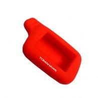 Чехол для сигнализации силиконовый Томагавк X5 красный