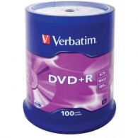 Verbatim DVD+R 4.7Gb 16x Cake box 1/100 (поштучно)
