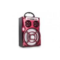 Колонка портативная MS-168BT (Bluetooth/USB /SD/FM/дисплей) красная