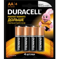 Батарейка Duracell LR6 Basic BL 4/80 (Промо)