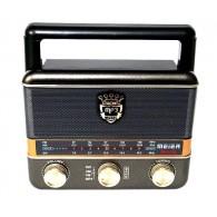 Радиоприемник М-U125 (USB/microSD/Fm/акб/2*R20) черный Meier