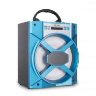 Колонка портативная MS-155BT (Bluetooth/USB /SD/FM/дисплей) синяя