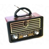 Радиоприемник М-U115 (USB/microSD/Fm/акб/2*R20) черный Meier