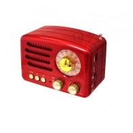 Радиоприемник М-160ВТ (Bluetooth/USB/microSD/Fm/AUX/акб) красный Meier
