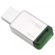 Флэш-диск Kingston 16 GB USB 3.0 Data Traveler 50 зеленый металл