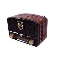 Радиоприемник М-138ВТ (Bluetooth/USB/microSD/Fm/AUX/акб) черный Meier