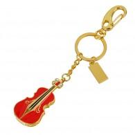 Флэш-диск 8Gb Usb2.0 Скрипка красная с карабином