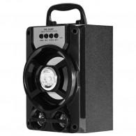 Колонка портативная MS-201BT (Bluetooth/USB /SD/FM/дисплей) черная