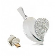 Флэш-диск 8GB Usb2.0 Сердце серебро (10254)