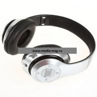 Наушники-плеер S680 серебро (Fm, microSD,Bluetooth)
