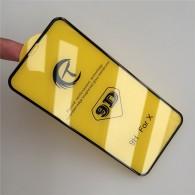 Защитное стекло 9D для iPhone X черное (тех.упак.)
