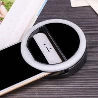 Вспышка для селфи - световое кольцо черное (встр.аккумулятор)