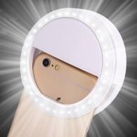Вспышка для селфи - световое кольцо белое (2*ААА)