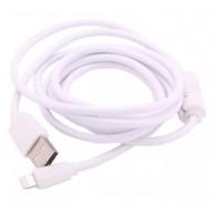 Кабель USB- iPhone5 Eltronic 1,5м белый с фильтром