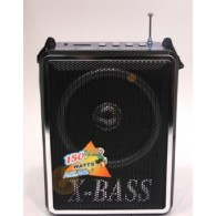 Радиоприемник XB-905 (USB/SD/microSD/Fm/AUX/фонарь/4*АА)черный Waxiba
