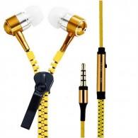 Наушники MP3 Zipper желтая молния