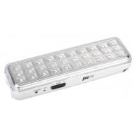 Фонарь Jazzway Accu9-L30 LED Li-Ion белый (аварийное освещение, 30Led)