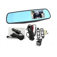 Видеорегистратор L909C (зеркало,2 камеры,120\90°,microSD до 32Gb)