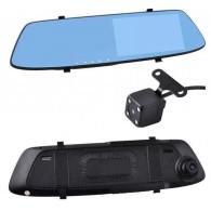Видеорегистратор Mega C-700L (зеркало,2 камеры,120\90°,microSD до 32Gb)