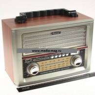 Радиоприемник MD-1705BTch (Bluetooth/USB/SD/microSD/FM/пульт/акб/4*R20) корич