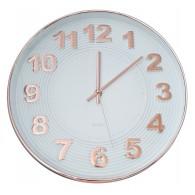 Часы настенные золот.цифры и обод, бел. циферблат 09928-1 (1АА)